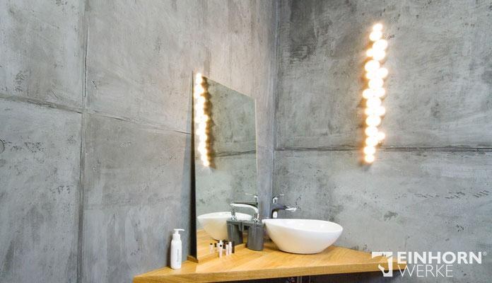 Badezimmer mit Beton Wandgestaltung