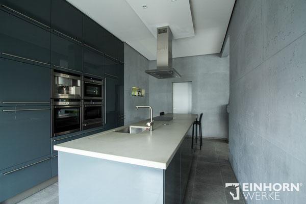 Küche in BETONOPTIK Wand