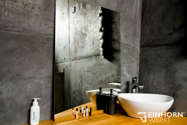 betonwand im Badezimmer