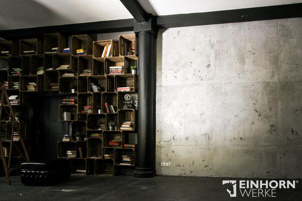 Betonoptik Wand im Loft