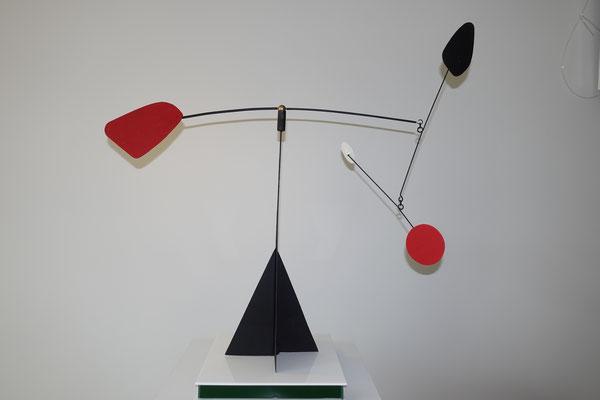 MOBILE auf Glassockel  H - 45 cm, B - 50cm,  Kupferblech, Farbe , Led  1.100,00 €
