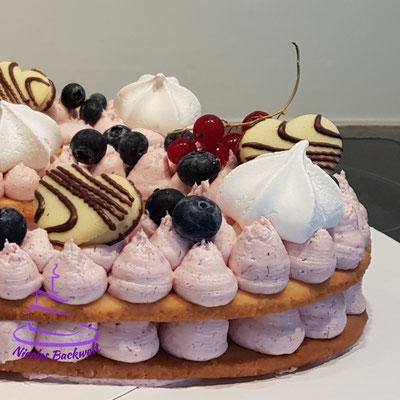Number Cake (Mürbeteig mit Frischköse-Topping)