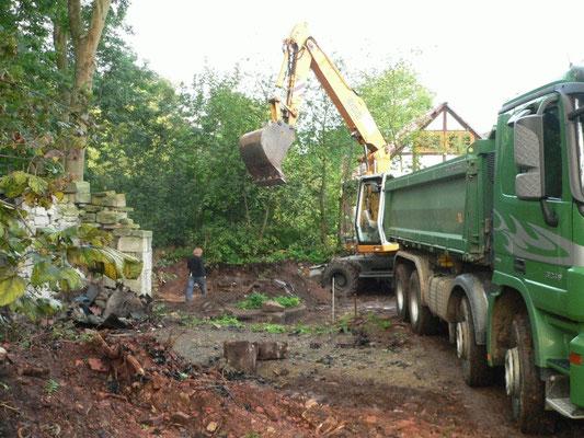 Die ersten Baggerarbeiten Herbst 2011