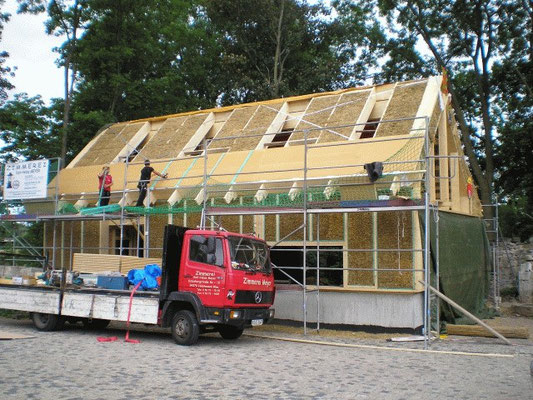 Vorbereitung fürs Dachdecken