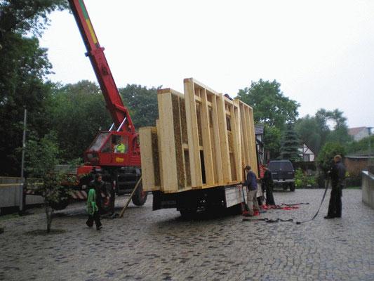 Unser Haus kommt! Juli 2012