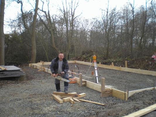 Vorbereitung für das Fundament