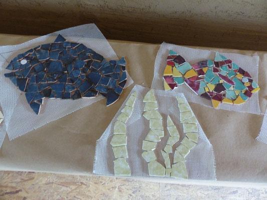 """Tolle Mosaike zum Thema """"Unter Wasser"""" und """"Südpol"""" entstehen"""