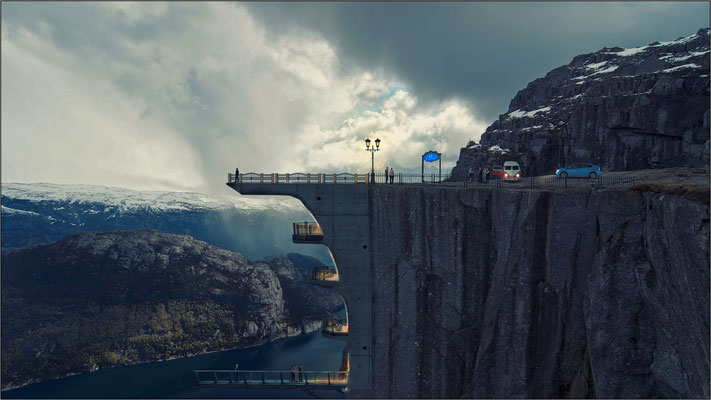 das neue Felsenhotel ...