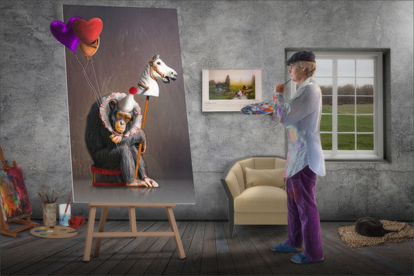 die Künstlerin ...
