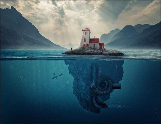 die schwimmende Hausinsel ...