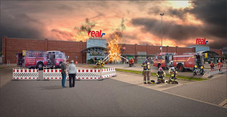 Feuer im Realmarkt Hattorf ...