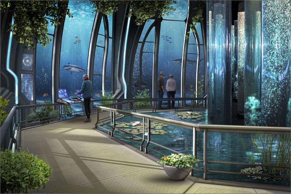 Unterwasser-Aquarium ...