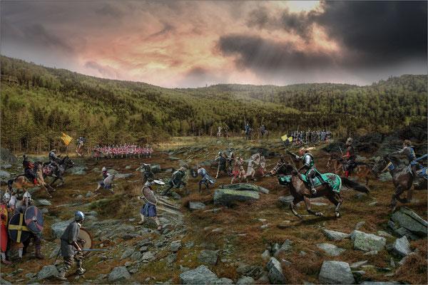 auf dem Schlachtfeld ..