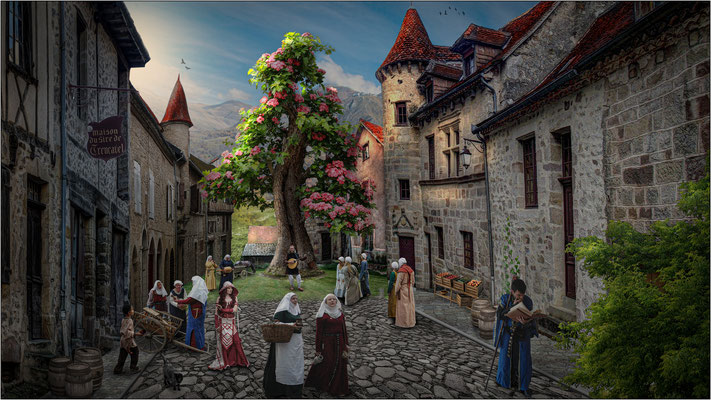 mittelalterlicher Markt ...