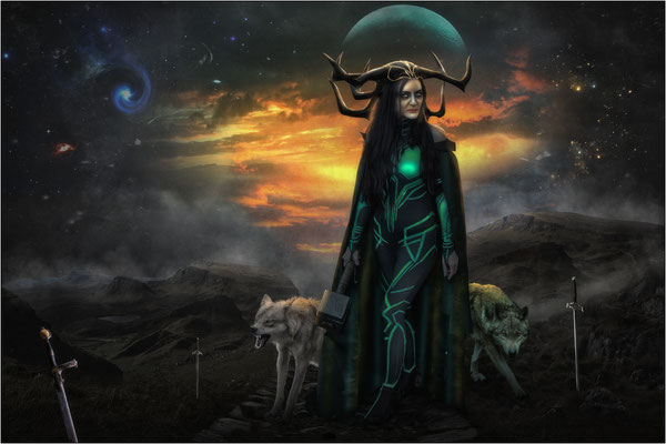 die Göttin Hela ...
