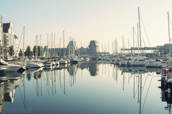 Jachthaven Mercator en Station Oostende