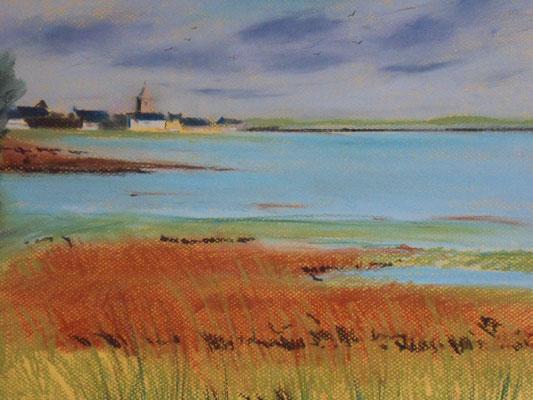 Cotentin. Portbail. Pleine mer dans le havre