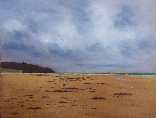 Cotentin. Le Cap de Carteret depuis la plage d'Hatainville