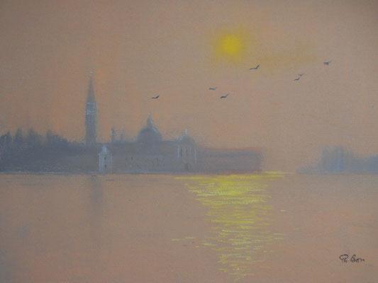 Venise . Brouillard d'hiver