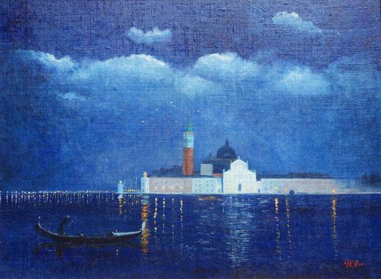 Venise  S. Giorgio illuminé hst