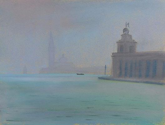 Venise. Brume  à la Pointe de la Douane