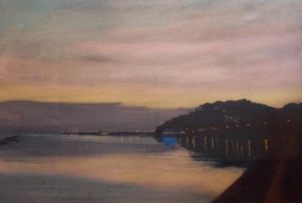 Calme du soir au port de Carteret
