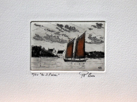 "Morbihan  ""les Trois Frères ""  (6 x 9 )"