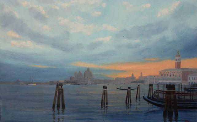 Venise   soir sur le Bassin de Saint Marc hst