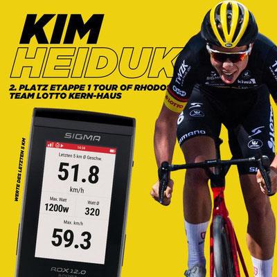 Die Werte von Kim Heiduck auf den letzten 5 km