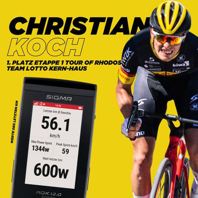Die Werte von Christian Koch auf den letzten 5 km
