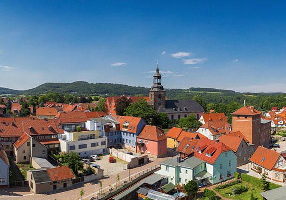 Blick auf das Stadtzentrum - Foto: www.bad-berka.de