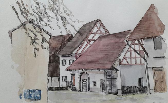 Dorfkern, Im Höfli, Stadtquartier Herblingen