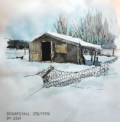 Schafstall, Stetten