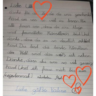 Meine Belohnung💝. Briefe von den Kindern.