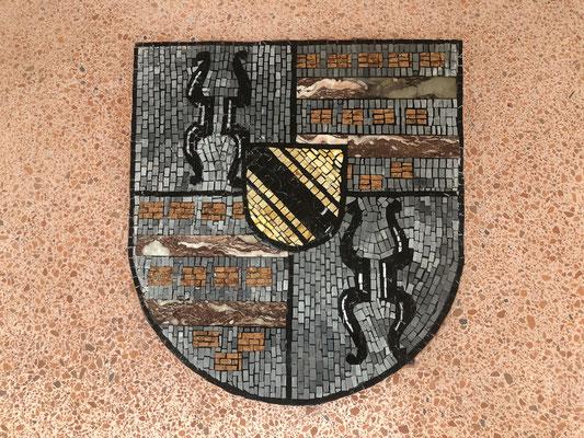 Opus Signinum mit Mosaikarbeiten