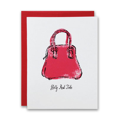 red holly tote
