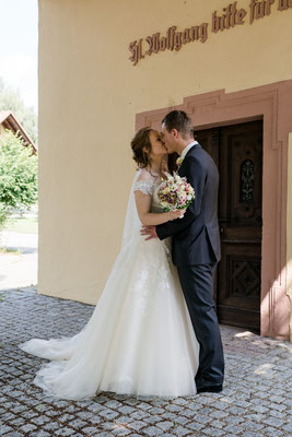 Brautpaarshooting vor der Trauung