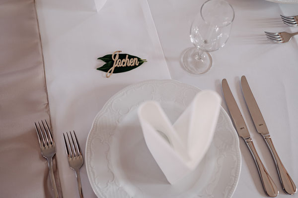 Namensschild, Tischkärtchen, Tischnamensschild, Tischdeko