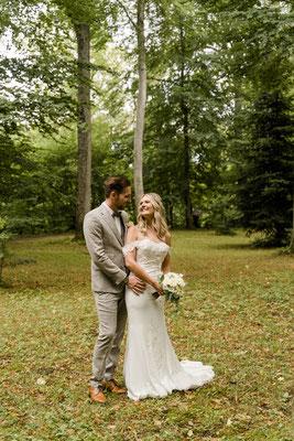 Brautpaar in Donaueschingen im Park