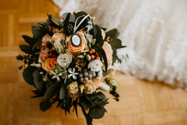 Brautstrauß mit Memorial - Margareten am Moos