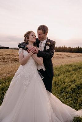 romantisches Brautpaarshooting zum Sonnenuntergang, Niederösterreich, Hochzeitsfotograf