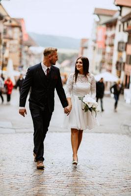 Brautpaarshooting mit purelovestories in Rottweil Innenstadt