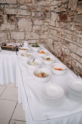 Buffet, Hochzeit, Fotograf purelovestories, Österreich