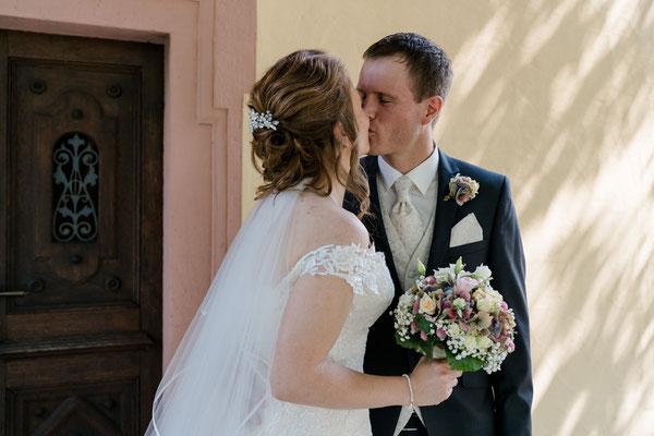 der erste Blick auf die Braut