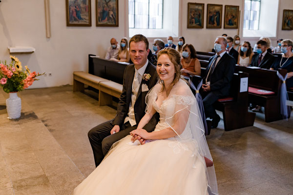 kirchliche Trauung, Brautpaar, Ja-Wort