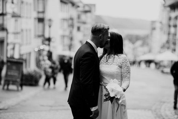 Brautpaarshooting nach standesamtlicher Trauung Rottweil