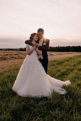 romantisches Brautpaarshooting mit Prinzessinenkleid, Niederösterreich, Hochzeitsfotograf