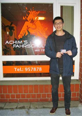 Shihao Dong hat seinen B Führerschein seit dem 31.01.17