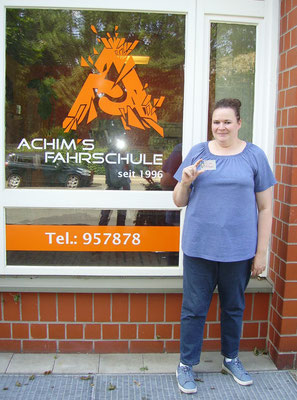 Manuela Busse hat ihren B Führerschein seit dem 07.08.2017