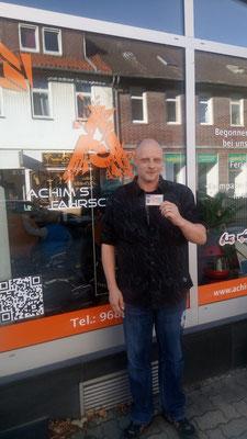 Johannes Winter hat seinen B-Führerschein seit dem 15.10.2018!